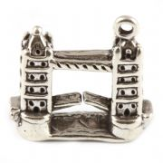 Londons Tower Bridge 3D Sterling Silver Charm